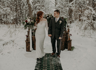 A Snowy Winter Wonderland Christmas Elopement in Upstate New York