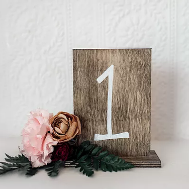 Simple Wooden Table Numbers
