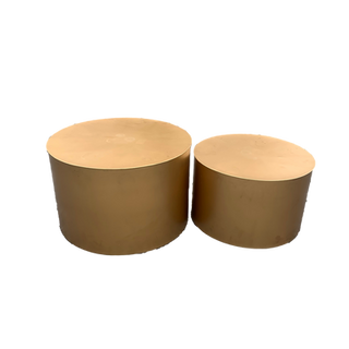 Gold Drum Table Set