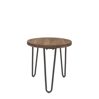 Low Hairpin Wood End Table