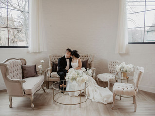 Monochromatic Wedding Inspiration at The Highline Rochester