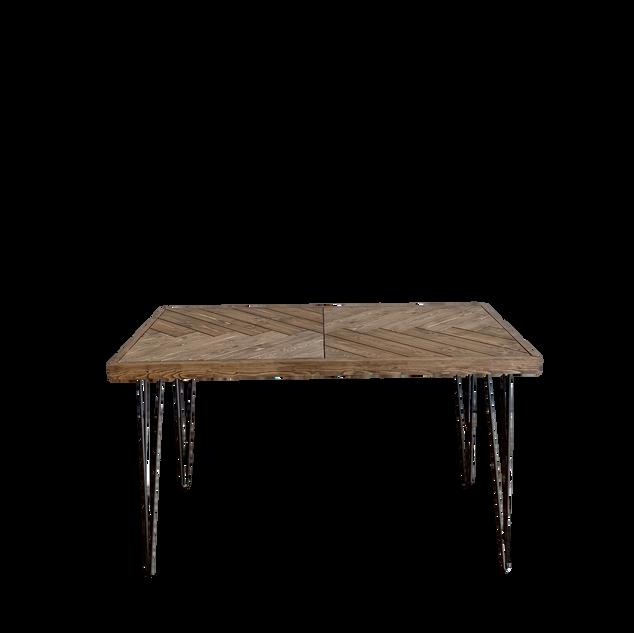 Chevron Hairpin Sweetheart Table