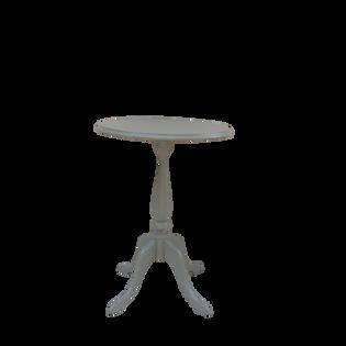 Grey Pedestal End Table