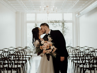 A Moody & Romantic Wedding Styled Shoot at The Lincoln Loft & Studio in Downtown Watertown,