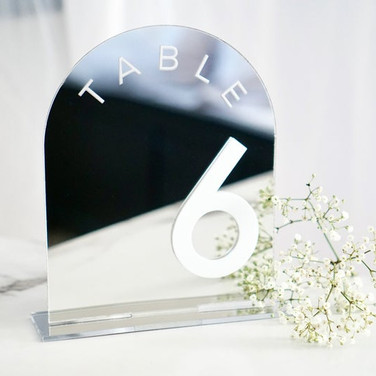 Mirrored Table Numbers