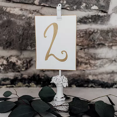 White Pedestal Clips (Add Your Own Paper Numbers)