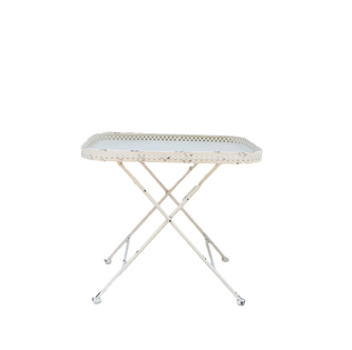 Chippy White Tray Table