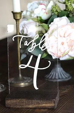 Wood & Acrylic Table Numbers