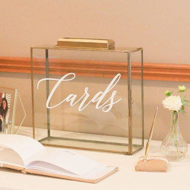 Gold Lettered Shadow Card Box
