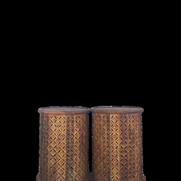 Dark Carved Wood Tables