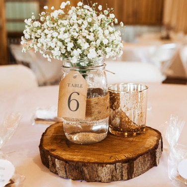 Wooden Tag Table Numbers
