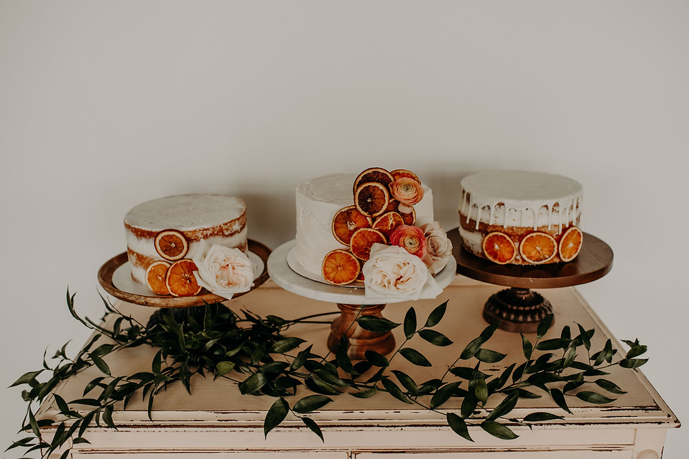Citrus baby shower cakes: Citrus Colored Baby Shower Inspiration with Pretty Little Vintage Co.
