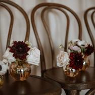 Irridescent Amber Bud Vases