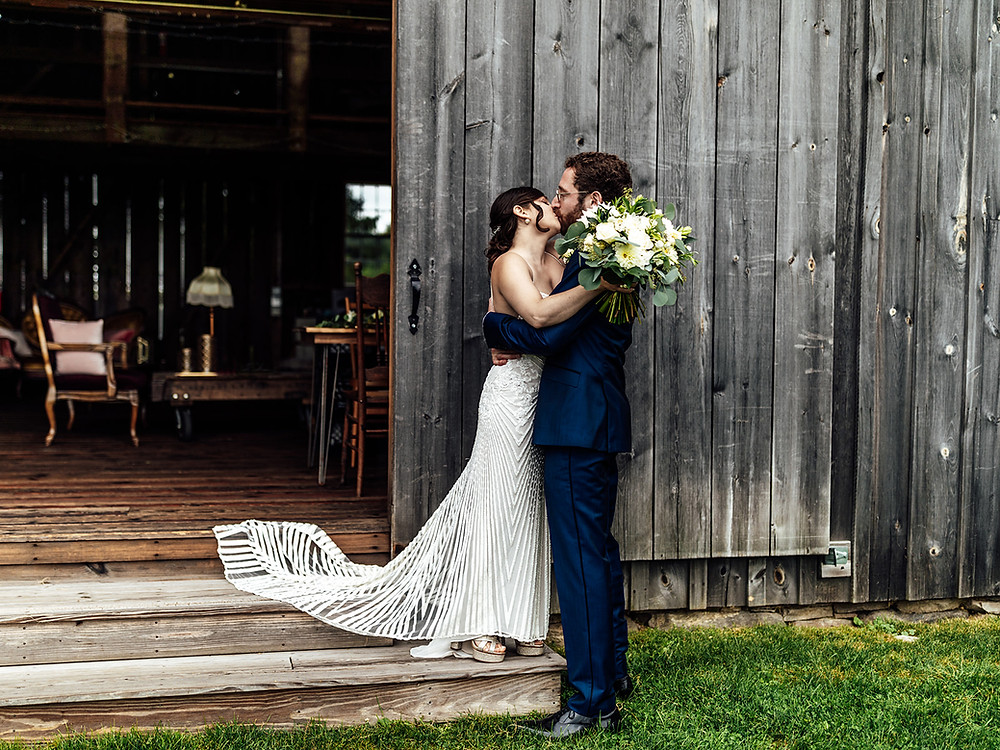 Whimsically Rustic Wedding at Grace & Gratitude with vintage decor by Pretty Little Vintage Co.