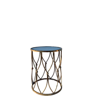 Gold Button End Table