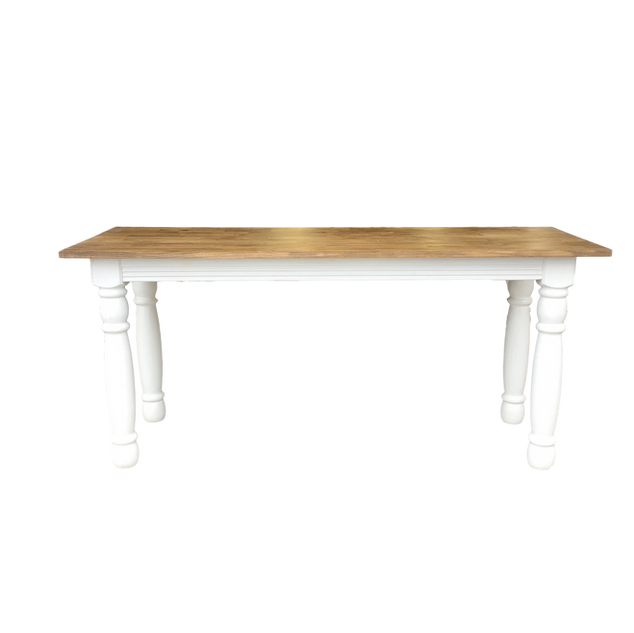 White Farm Table with White Legs