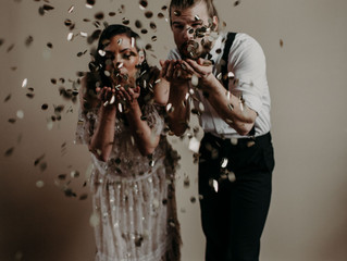 A New Years Eve Wedding Styled Shoot With a Lot of Champagne and a Little Bit of Sparkle - Upstate N