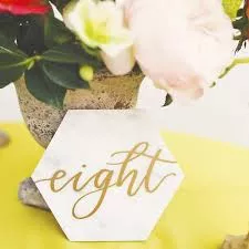 Marble & Gold Table Numbers