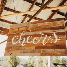 Large Barnwood Cheers Sign