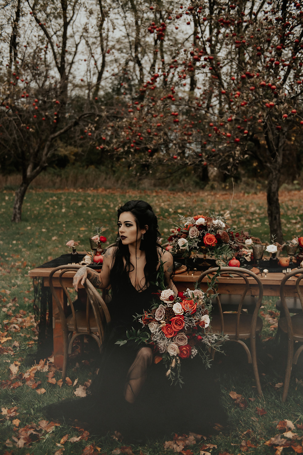 Edgy Bridal Look: Dark & Romantic Wedding Inspiration featured on Pretty Little Vintage Co.