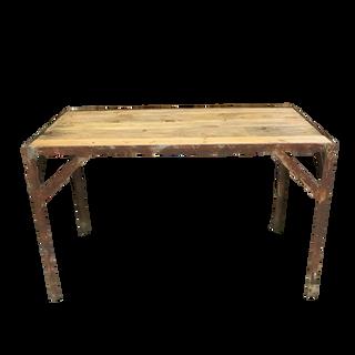 Wood & Metal Industrial Table