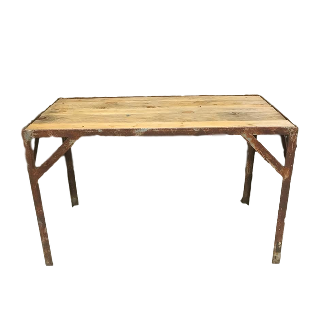 Wood & Metal Industrial Table