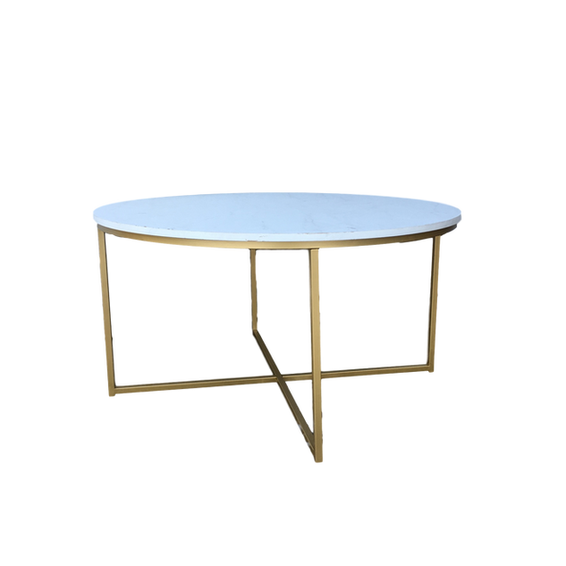 Gold & Marble Round CoffeeTable
