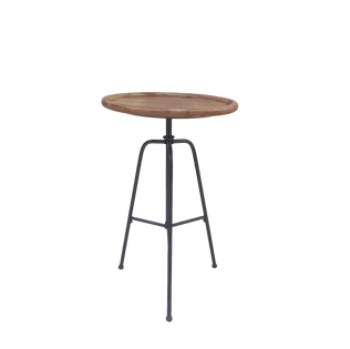 Wood Hairpin Pedestal End Table