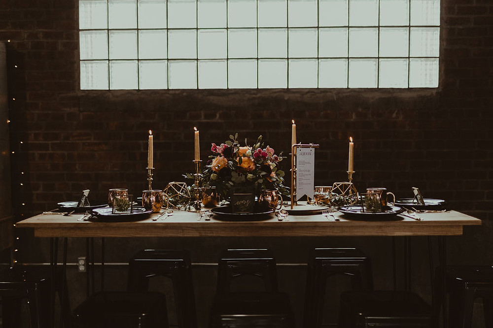 Industrial Wedding Inspiration: Industrial & Copper Styled Wedding Shoot at Smith's Market featured on Pretty Little Vintage Co.
