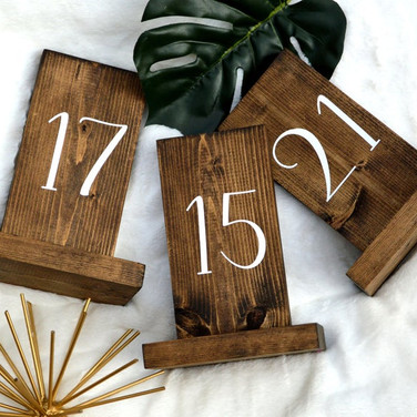 Wooden Plaque Table Numbers