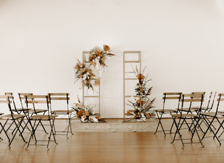 Modern & Chic Styled Fall Wedding Shoot at Emerson Park in Auburn, NY