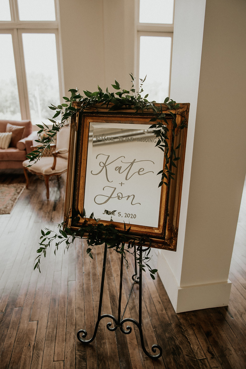 Mirror Wedding Sign: Sweet & Intimate Elopement at The Lincoln Loft