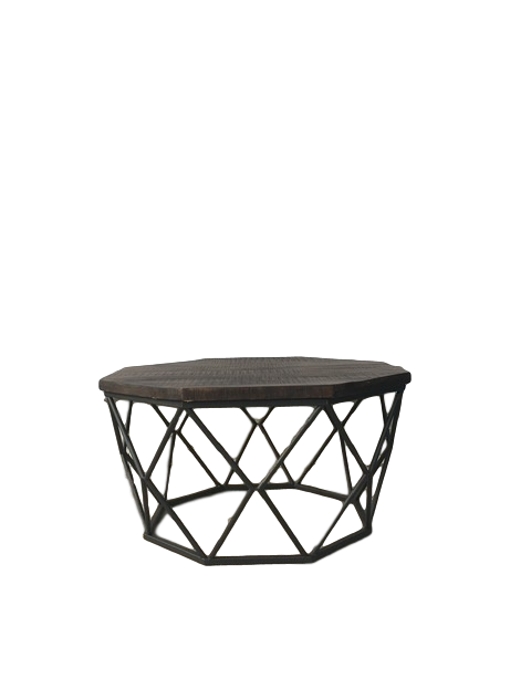 Wood & Metal Round Diamond Table