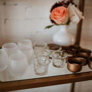 Frosted, Clear & Matte Gold Tealight Holders