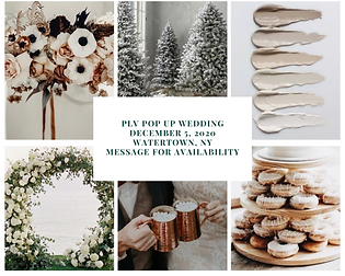 PLV Pop up wedding December 5, 2020 Wate