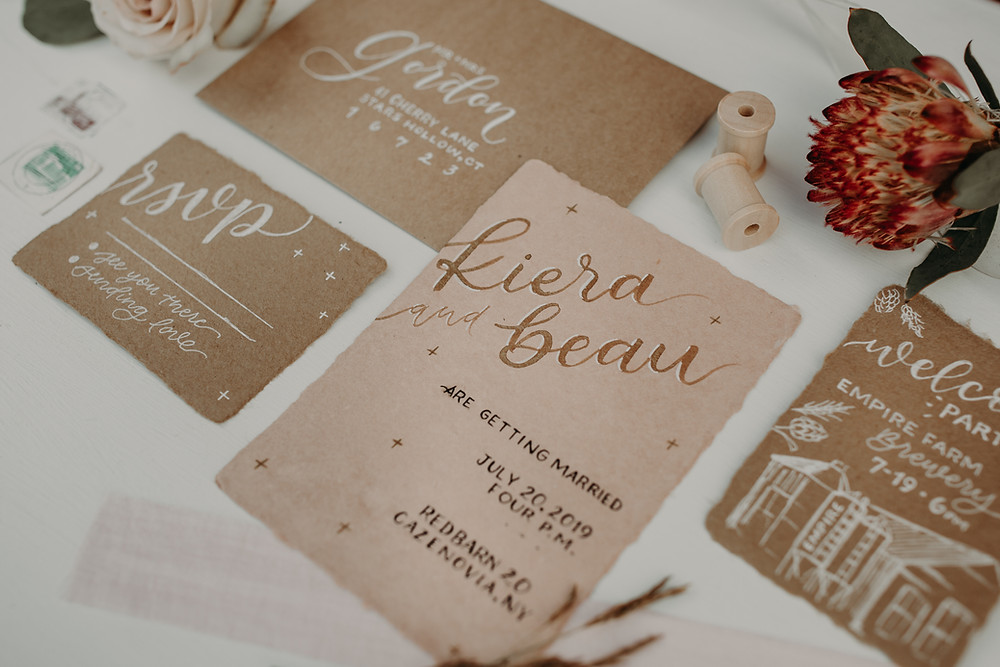 Wedding Invitation Suite Design: Boho TerraCotta Wedding Styled Shoot at Red Barn 20
