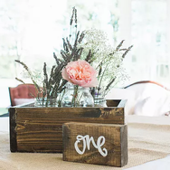 Chunky Wooden Table Numbers