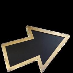 Large Gold Chalkboard Arrow