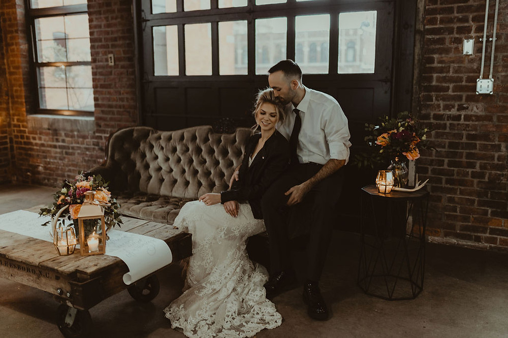Vintage Wedding Lounge: Industrial & Copper Styled Wedding Shoot at Smith's Market featured on Pretty Little Vintage Co.
