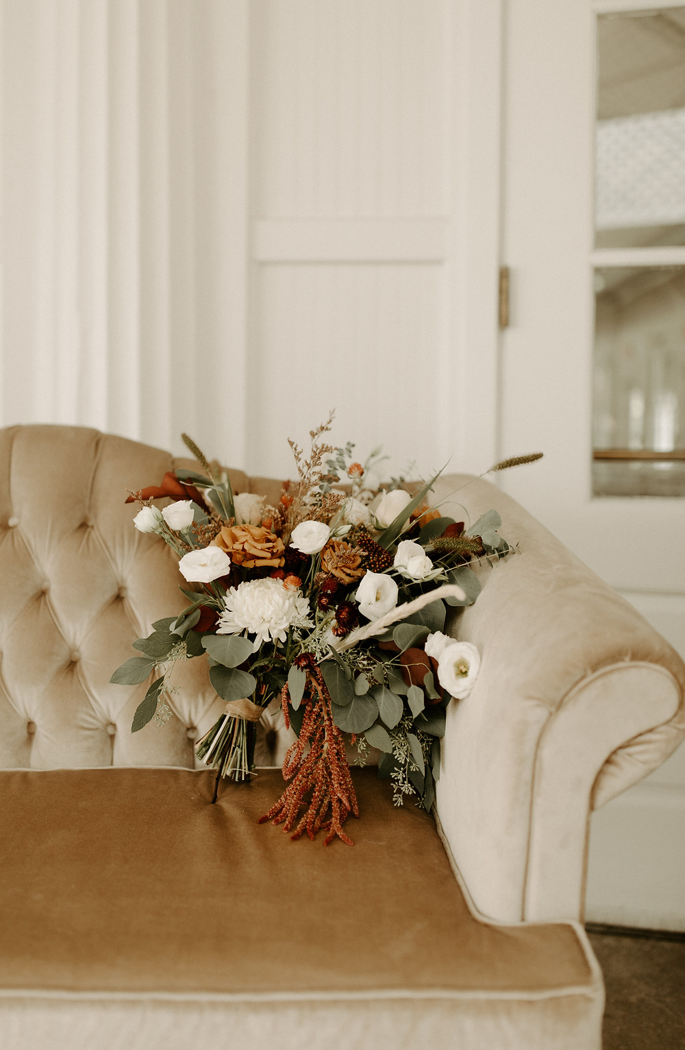 Ivory cream wedding sofa decor