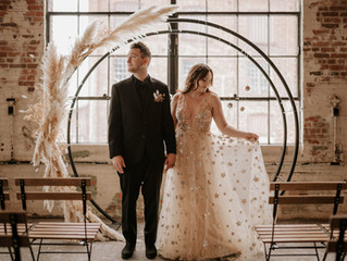 Industrial & Celestial Wedding Inspiration at Garland City Beer Works