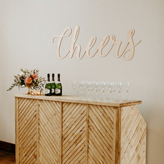 Large Gold Cheers Sign