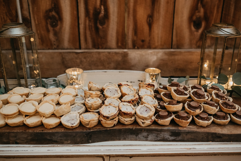 Wedding Dessert Display: Vintage Glam Gilbertsville Farmhouse Wedding featured on Pretty Little Vintage Co.