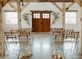 An Elegant White Barn Wedding with Sweet Pink and Linen Details in Upstate New York