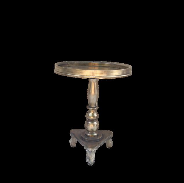 Metallic Gold Pedestal End Table