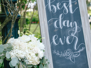 A Soft Slate Blue & Grey Outdoor Garden Wedding at the Paddock Mansion & Historical Museum i