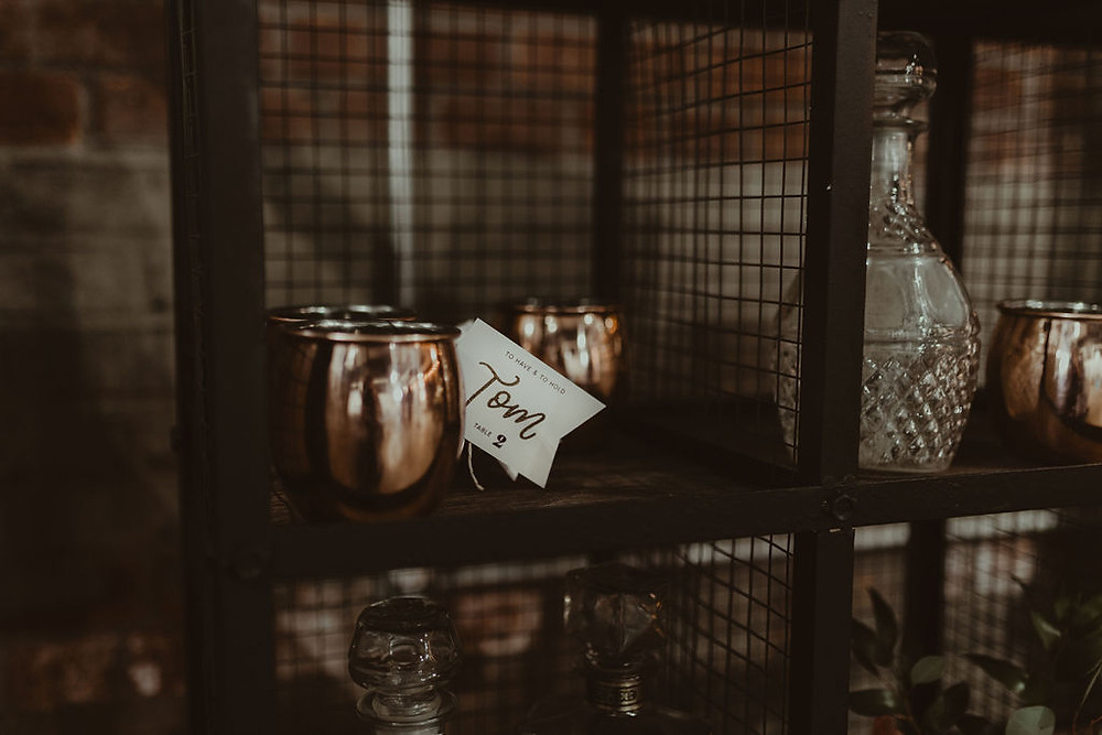 Copper Moscow Mule Bar: Industrial & Copper Styled Wedding Shoot at Smith's Market featured on Pretty Little Vintage Co.