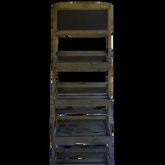 Rustic Chalkboard Shelf