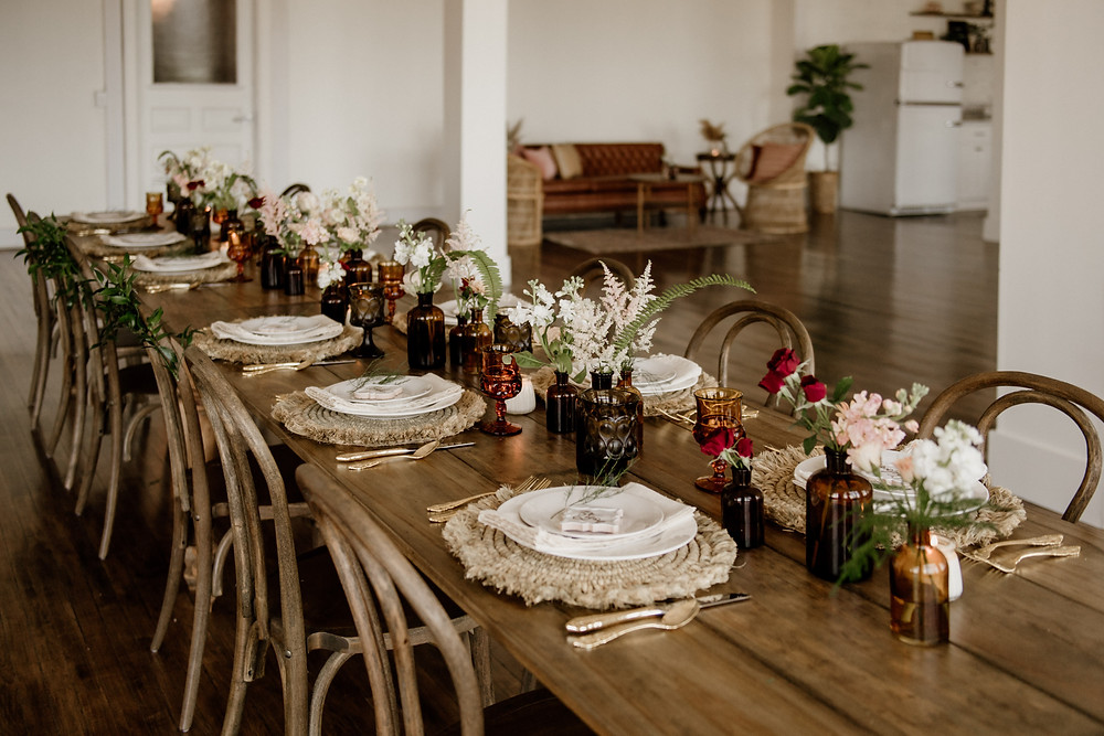Wedding table decor: Sweet & Intimate Elopement at The Lincoln Loft