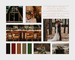 Aframe Fall Wedding